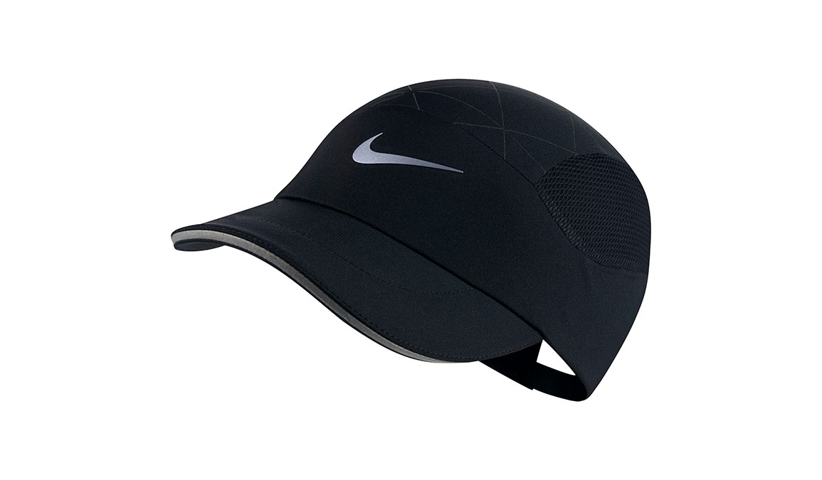 Women's Nike AeroBill Tailwind Running Cap - Color: Black Size: OS, Black, large, image 1