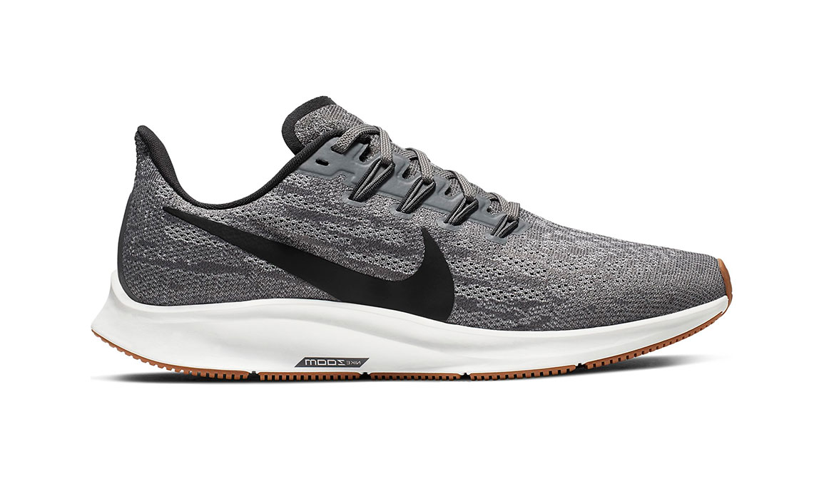 Women's Nike Air Zoom Pegasus 36 Running Shoe - Color: Gunsmoke/Oil Grey/White (Regular Width) - Size: 5, Gunsmoke/Oil Grey/White, large, image 1