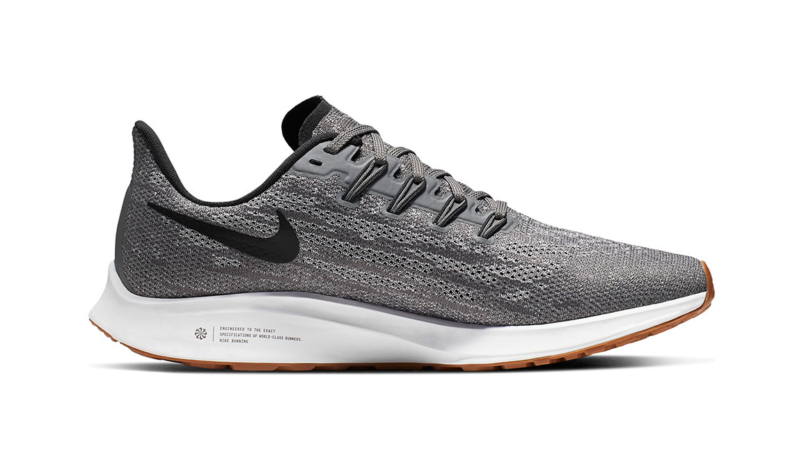 Women's Nike Air Zoom Pegasus 36 Running Shoe - Color: Gunsmoke/Oil Grey/White (Regular Width) - Size: 5, Gunsmoke/Oil Grey/White, large, image 2