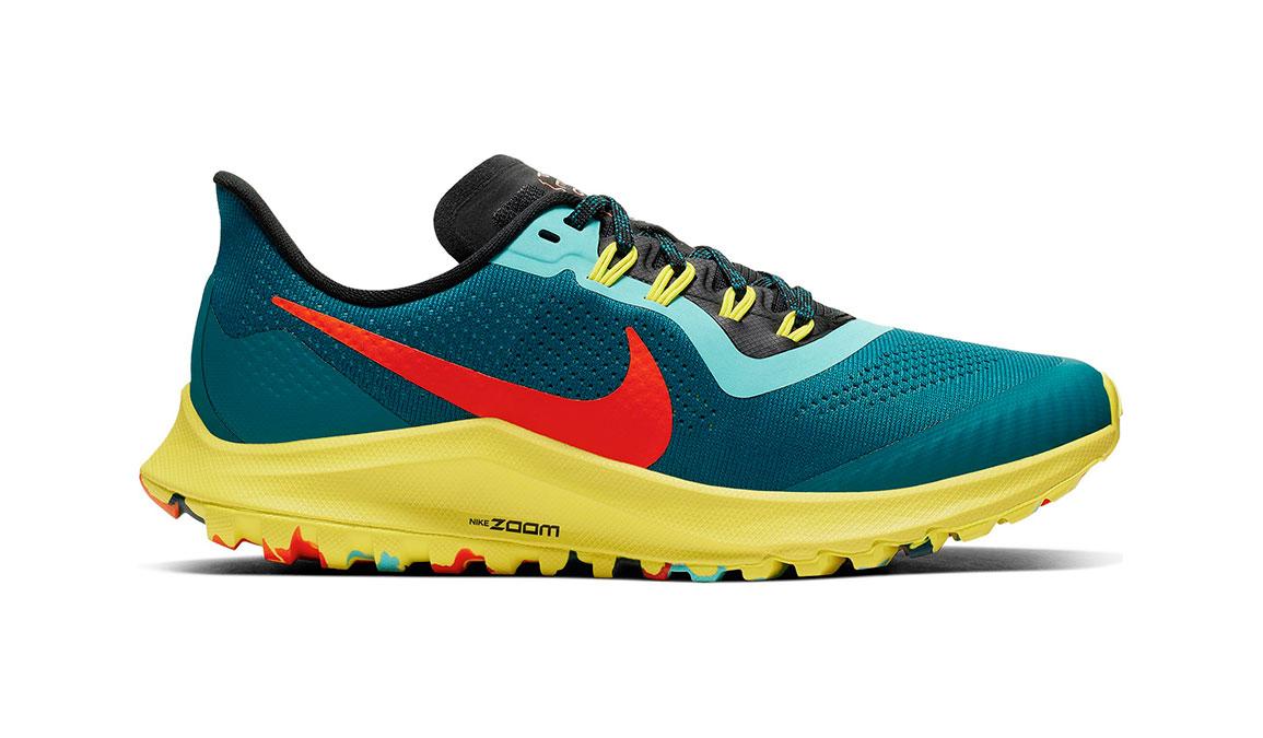 Women's Nike Air Zoom Pegasus 36 Trail Running Shoe - Color: Geode Teal/Bright Crimson (Regular Width) - Size: 5, Geode Teal/Bright Crimson, large, image 1