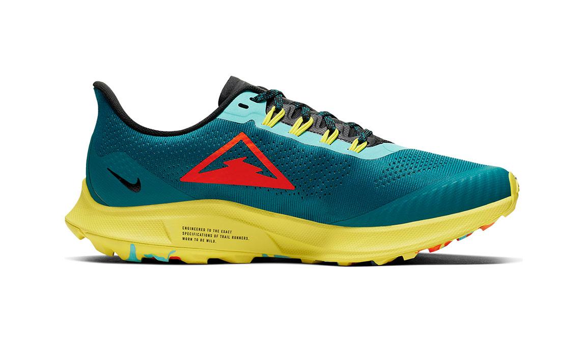 Women's Nike Air Zoom Pegasus 36 Trail Running Shoe - Color: Geode Teal/Bright Crimson (Regular Width) - Size: 5, Geode Teal/Bright Crimson, large, image 2