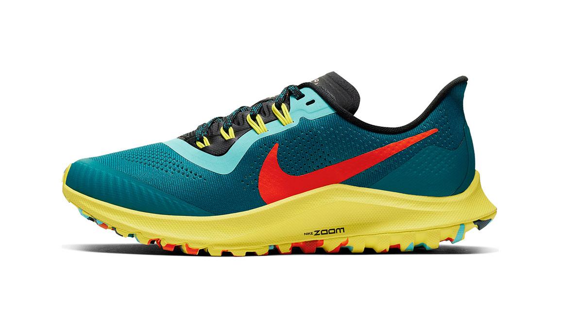 Women's Nike Air Zoom Pegasus 36 Trail Running Shoe - Color: Geode Teal/Bright Crimson (Regular Width) - Size: 5, Geode Teal/Bright Crimson, large, image 3
