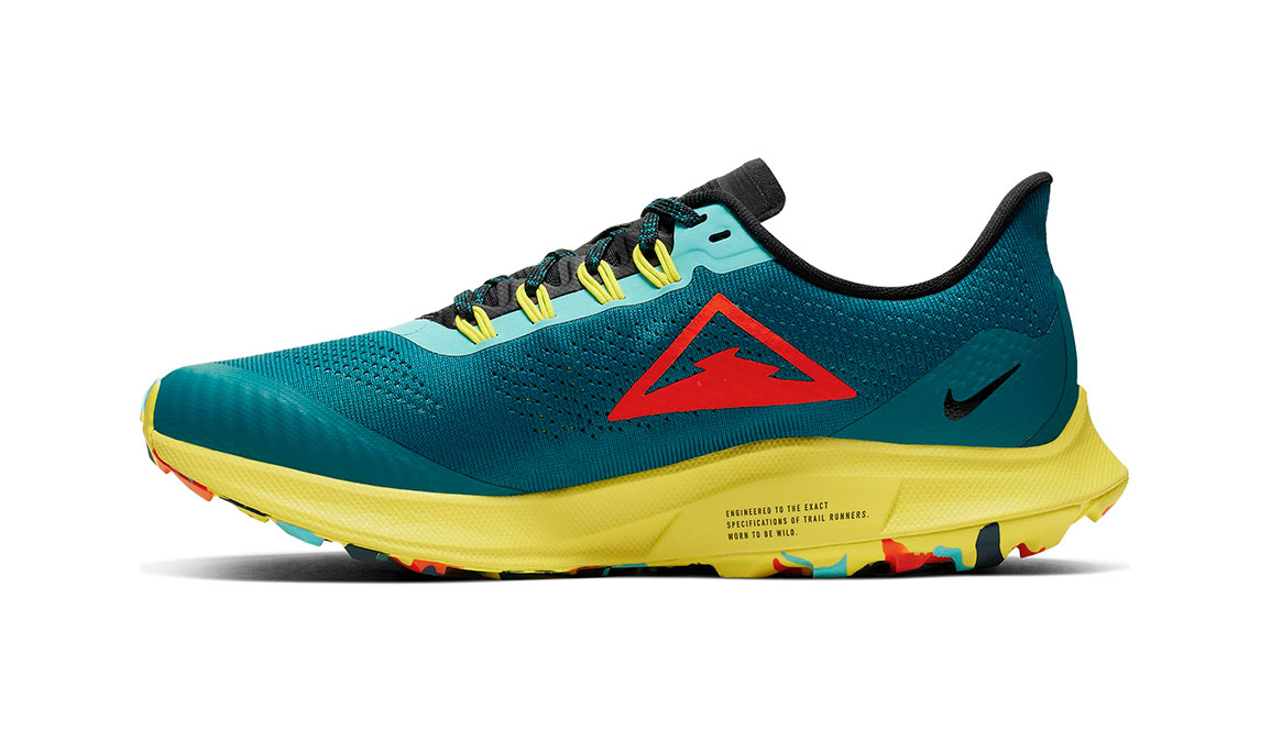 Women's Nike Air Zoom Pegasus 36 Trail Running Shoe - Color: Geode Teal/Bright Crimson (Regular Width) - Size: 5, Geode Teal/Bright Crimson, large, image 4