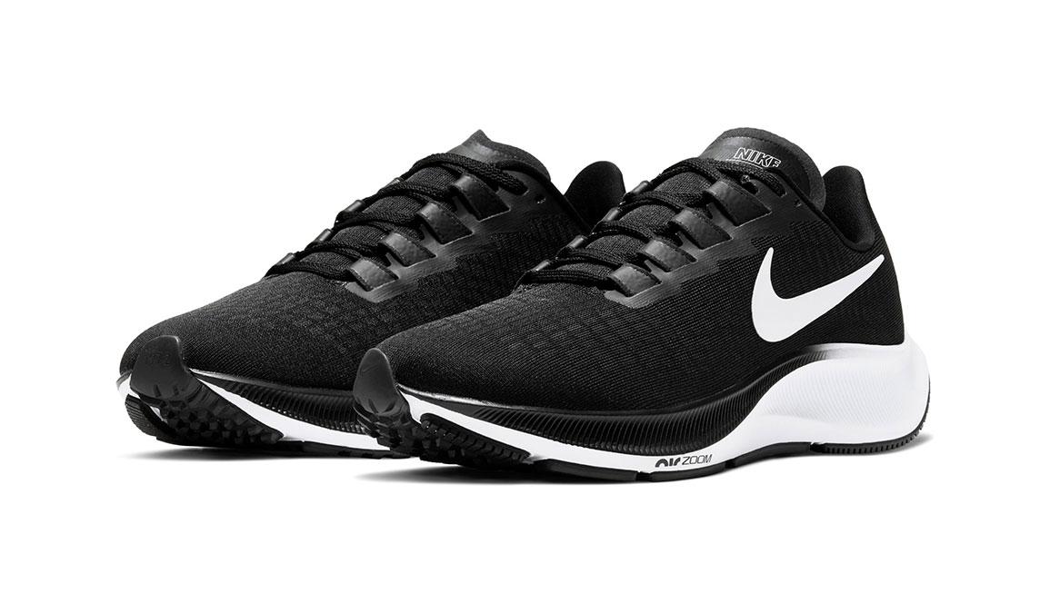 Women's Nike Air Zoom Pegasus 37 Running Shoe - Color: Black/White (Regular Width) - Size: 5.5, Black/White, large, image 3