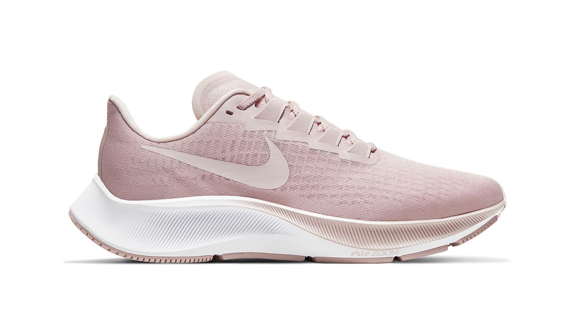 Women's Nike Air Zoom Pegasus 37 Running Shoe - Color: Champagne/Barely Rose-White (Regular Width) - Size: 5.5, Champagne/Barely Rose/White, large, image 1