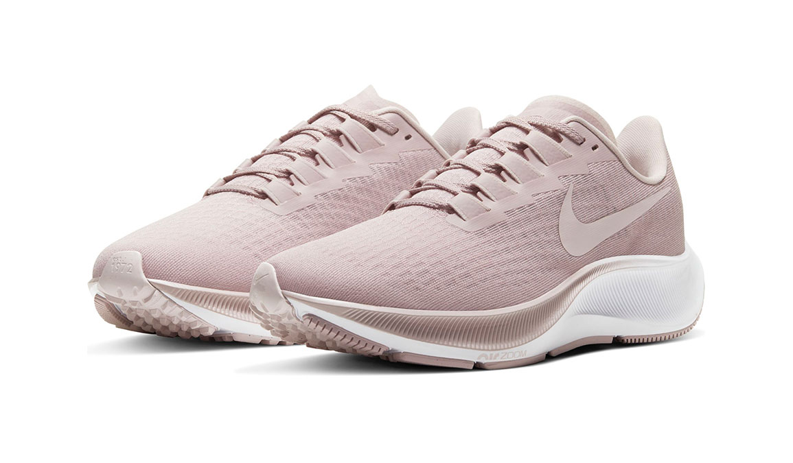 Women's Nike Air Zoom Pegasus 37 Running Shoe - Color: Champagne/Barely Rose-White (Regular Width) - Size: 5.5, Champagne/Barely Rose/White, large, image 3