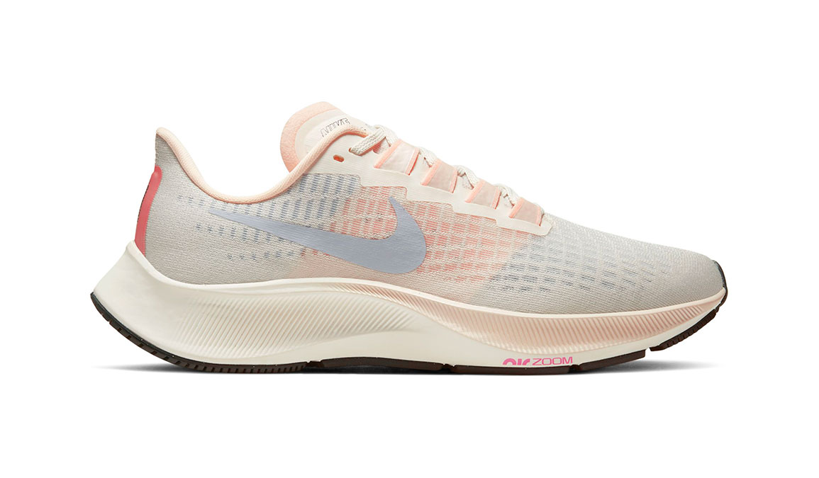 Women's Nike Air Zoom Pegasus 37 Running Shoe - Color: Pale Ivory/Ghost-Barely Volt-Sail (Regular Width) - Size: 8, Pale Ivory/Ghost-Barely Volt-Sail, large, image 1