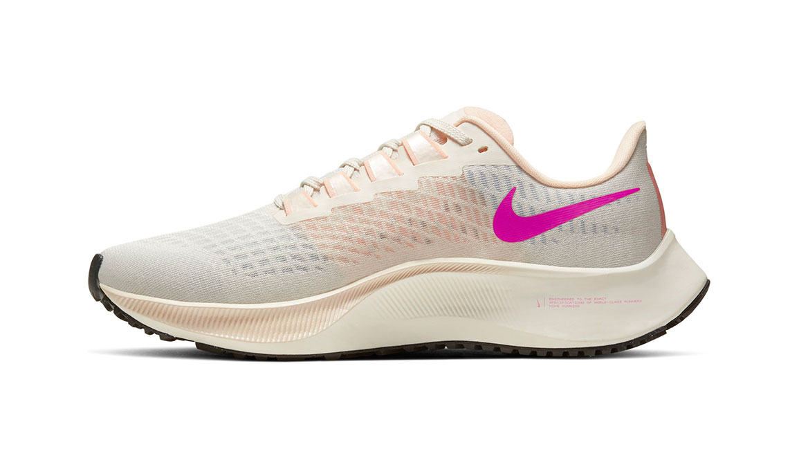 Women's Nike Air Zoom Pegasus 37 Running Shoe - Color: Pale Ivory/Ghost-Barely Volt-Sail (Regular Width) - Size: 8, Pale Ivory/Ghost-Barely Volt-Sail, large, image 2
