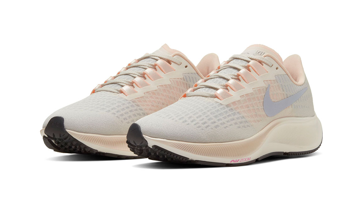 Women's Nike Air Zoom Pegasus 37 Running Shoe - Color: Pale Ivory/Ghost-Barely Volt-Sail (Regular Width) - Size: 8, Pale Ivory/Ghost-Barely Volt-Sail, large, image 3
