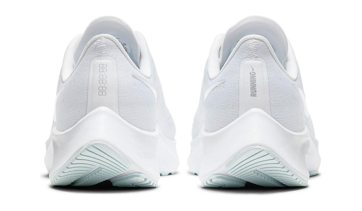 Women's Nike Air Zoom Pegasus 37 Running Shoe - Color: White/Metallic Silver-Aura (Regular Width) - Size: 5.5, White/Metallic Silver-Aura, large, image 4