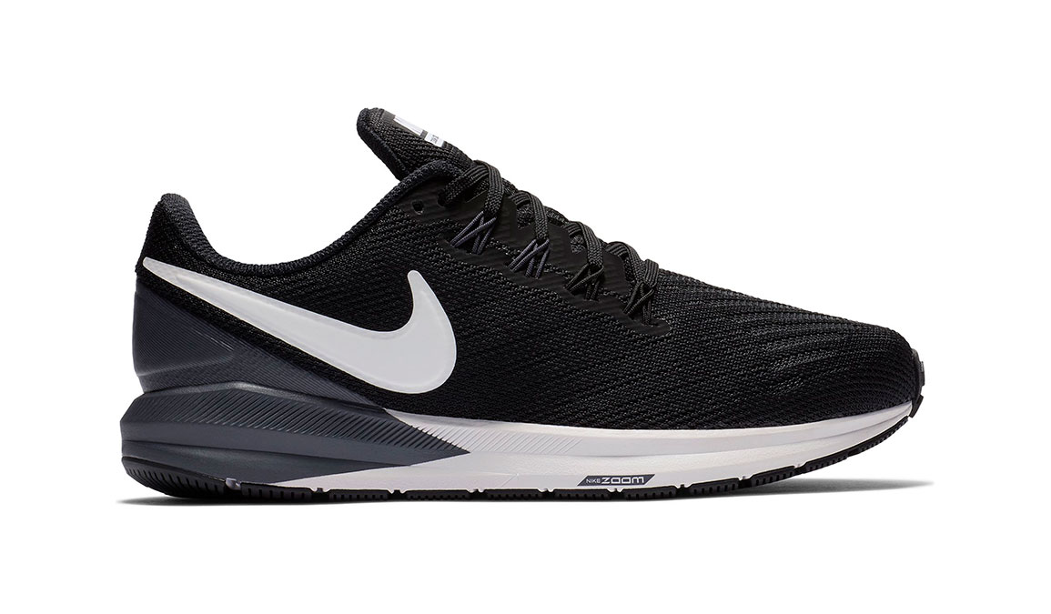 Women's Nike Air Zoom Structure 22 Running Shoe - Color: Black/White/Gridiron (Regular Width) - Size: 10.5, Black/White/Gridiron, large, image 1