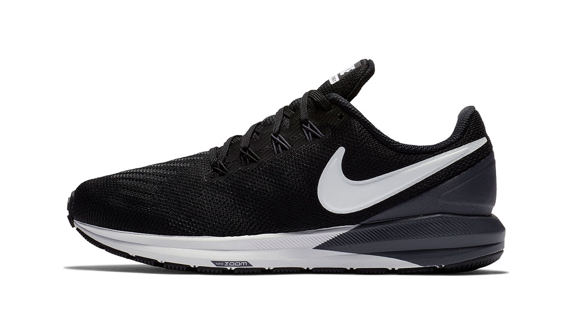 Women's Nike Air Zoom Structure 22 Running Shoe - Color: Black/White/Gridiron (Regular Width) - Size: 10.5, Black/White/Gridiron, large, image 3