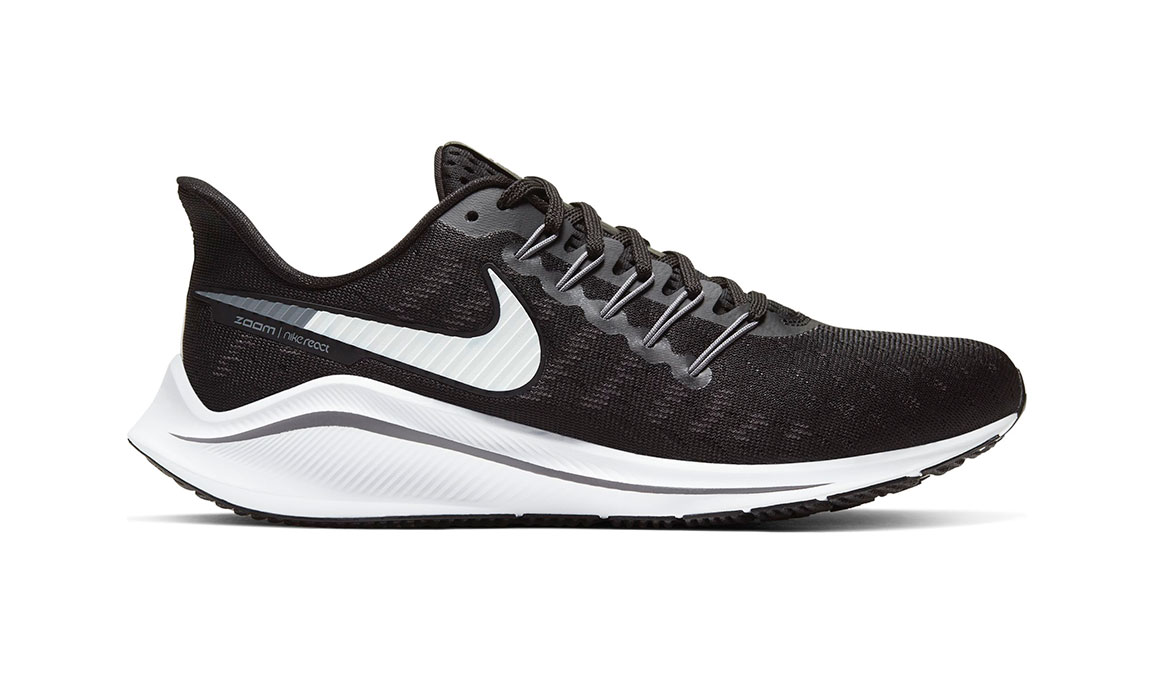 Women's Nike Air Zoom Vomero 14 Running Shoe - Color: Black/White/Grey (Regular Width) - Size: 6.5, Black/White/Grey, large, image 1