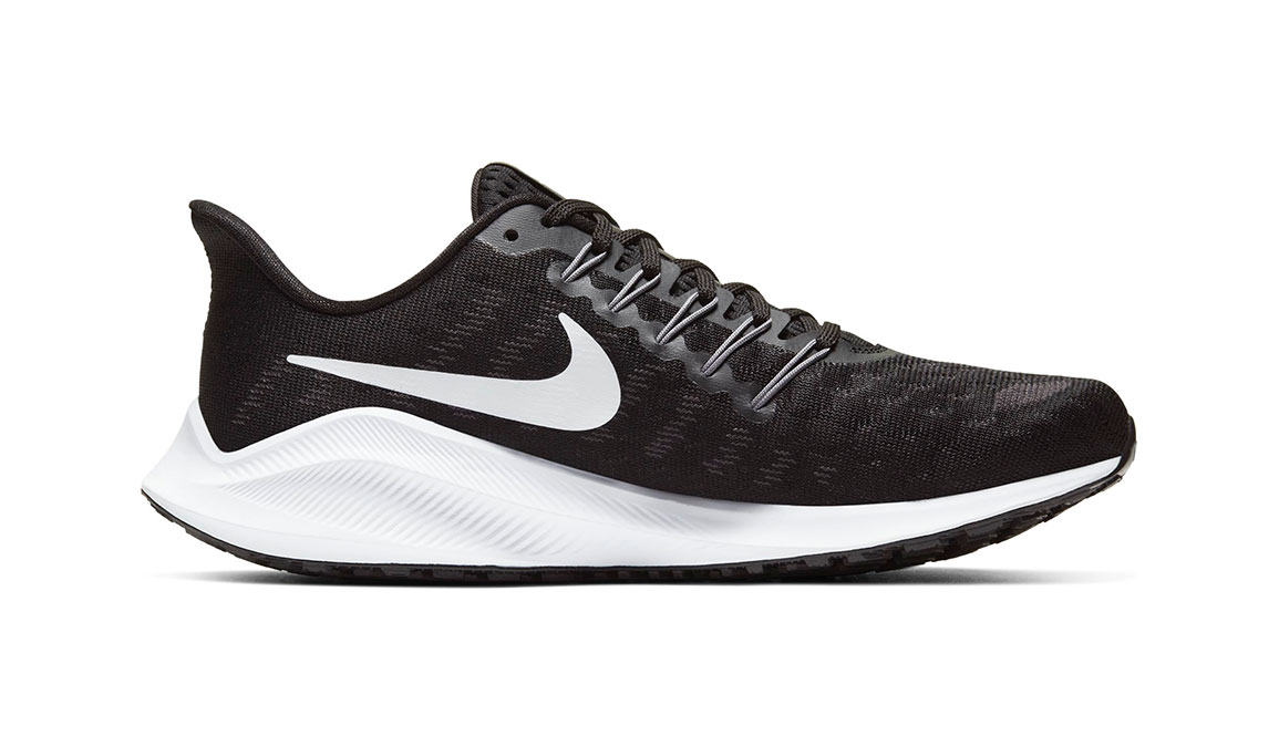 Women's Nike Air Zoom Vomero 14 Running Shoe - Color: Black/White/Grey (Regular Width) - Size: 6.5, Black/White/Grey, large, image 2