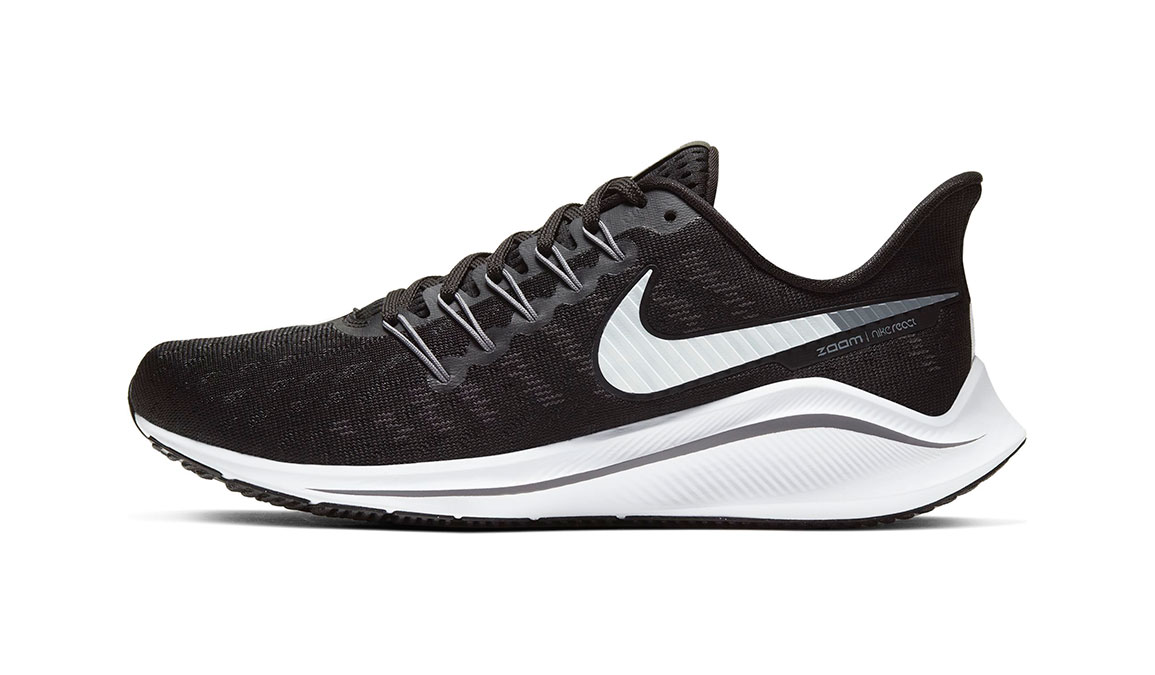 Women's Nike Air Zoom Vomero 14 Running Shoe - Color: Black/White/Grey (Regular Width) - Size: 6.5, Black/White/Grey, large, image 3