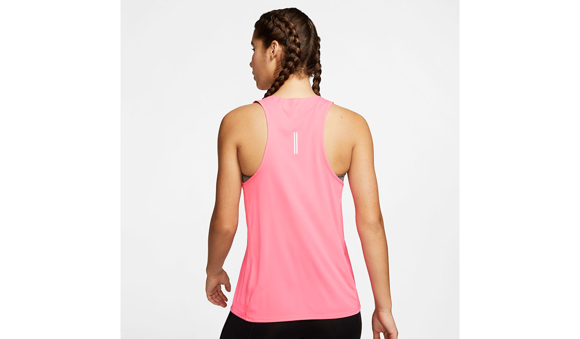 Women's Nike City Sleek Running Tank - Color: Digital Pink/Reflective Silver Size: M, Digital Pink/Reflective Silver, large, image 4