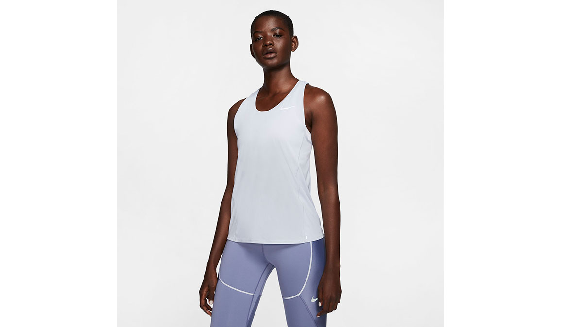 Women's Nike City Sleek Running Tank - Color: Sky Grey/Reflective Silver Size: XS, Sky Grey/Reflective Silver, large, image 1