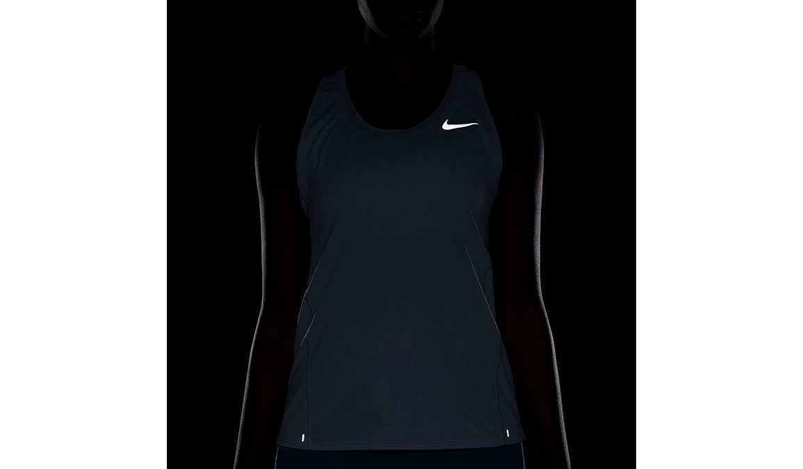 Women's Nike City Sleek Running Tank - Color: Sky Grey/Reflective Silver Size: XS, Sky Grey/Reflective Silver, large, image 3