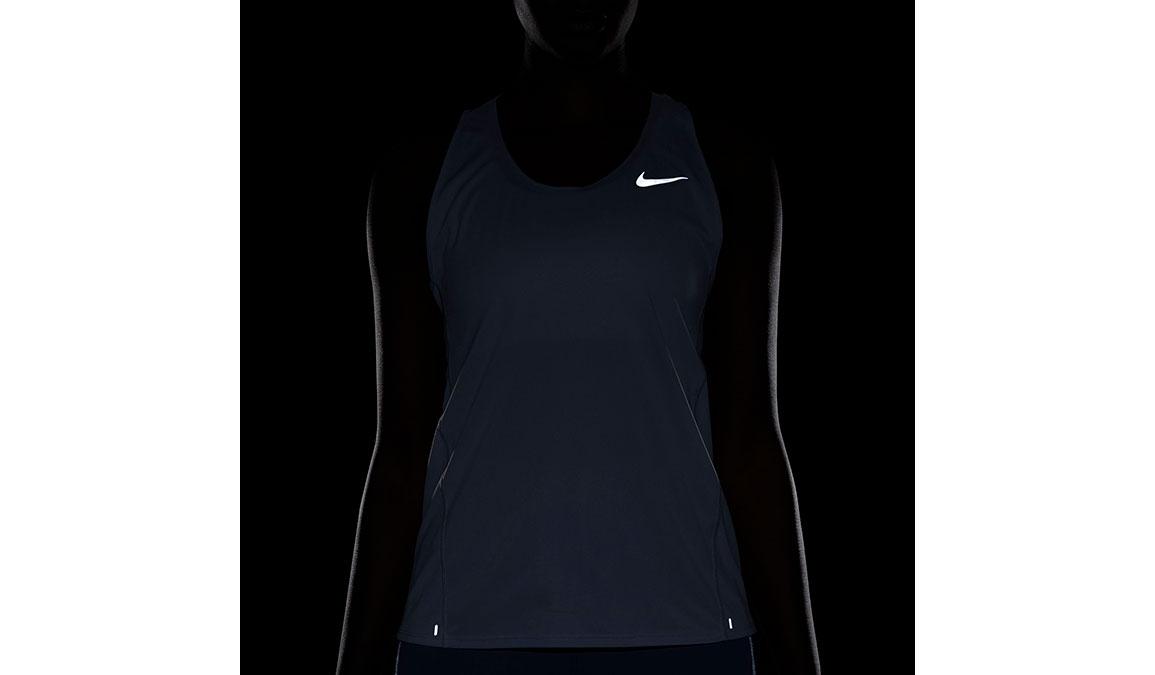 Women's Nike City Sleek Running Tank - Color: Sky Grey/Reflective Silver Size: XS, Sky Grey/Reflective Silver, large, image 3