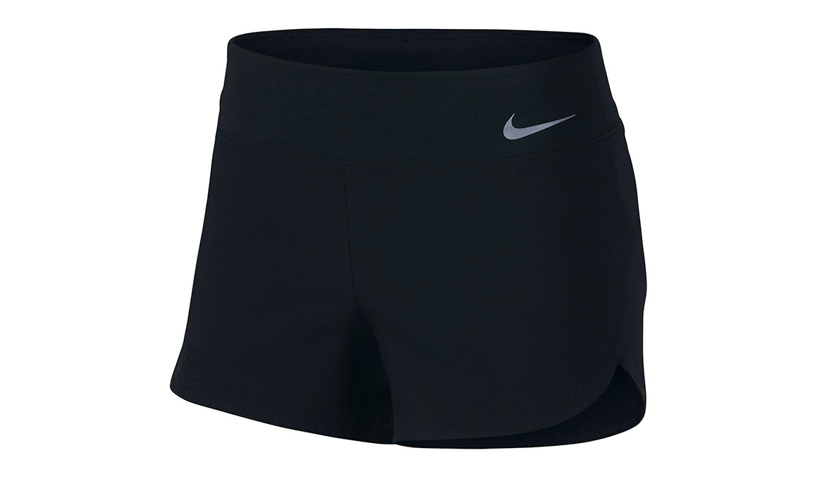 "Women's Nike Eclipse 3"" Running Shorts - Color: Black/Reflective Silver Size: XS, Black/Reflective Silver, large, image 1"
