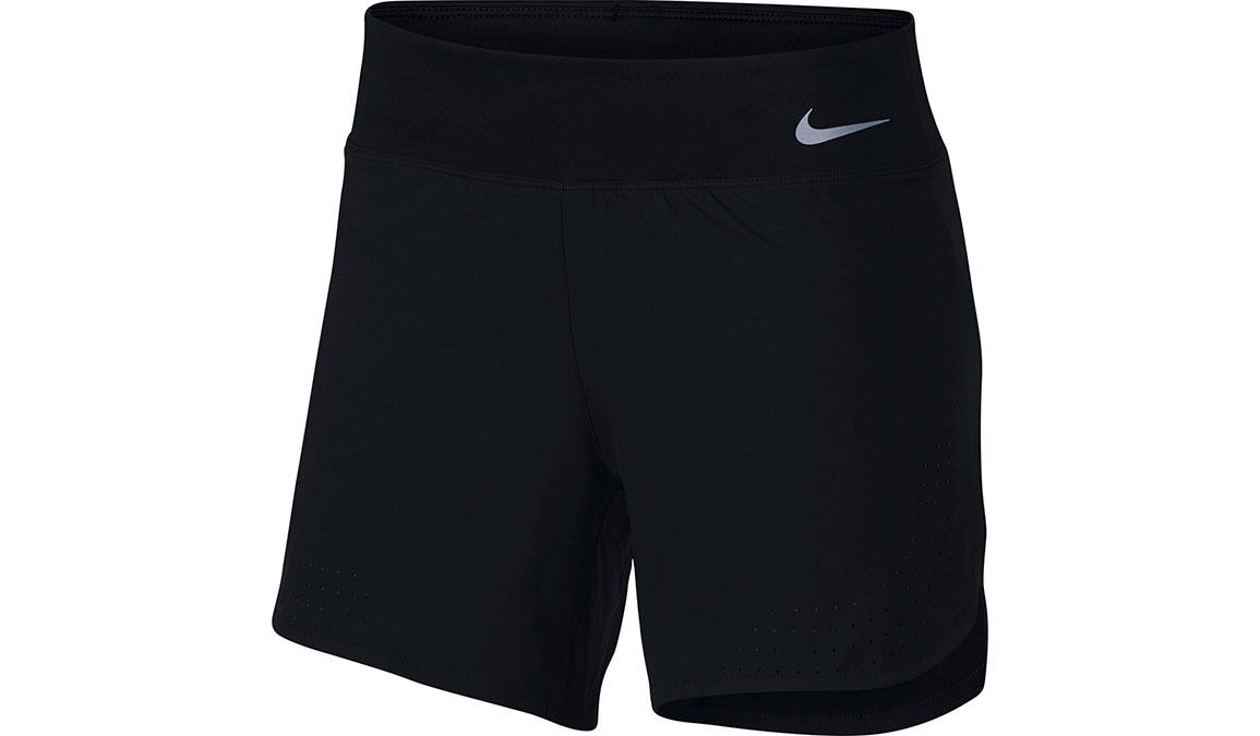 "Women's Nike Eclipse 5"" Running Shorts - Color: Black/Reflective Silver Size: XS, Black/Reflective Silver, large, image 1"