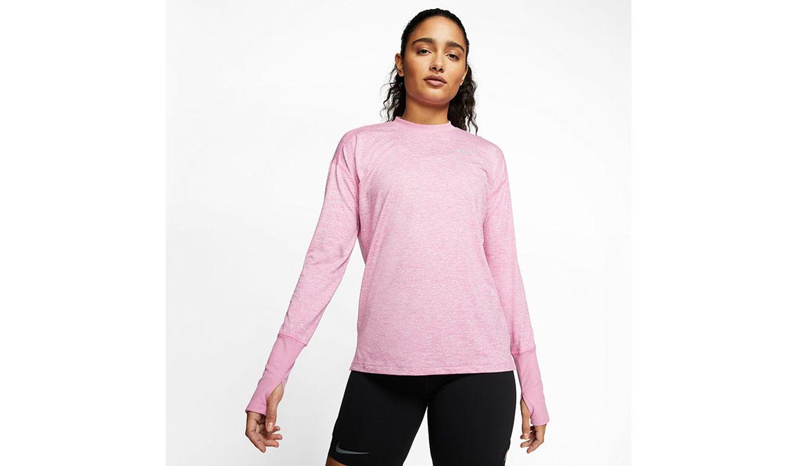 Women's Nike Element Crew Top - Color: Flamingo/Reflective Silver Size: M, Flamingo/Reflective Silver, large, image 1