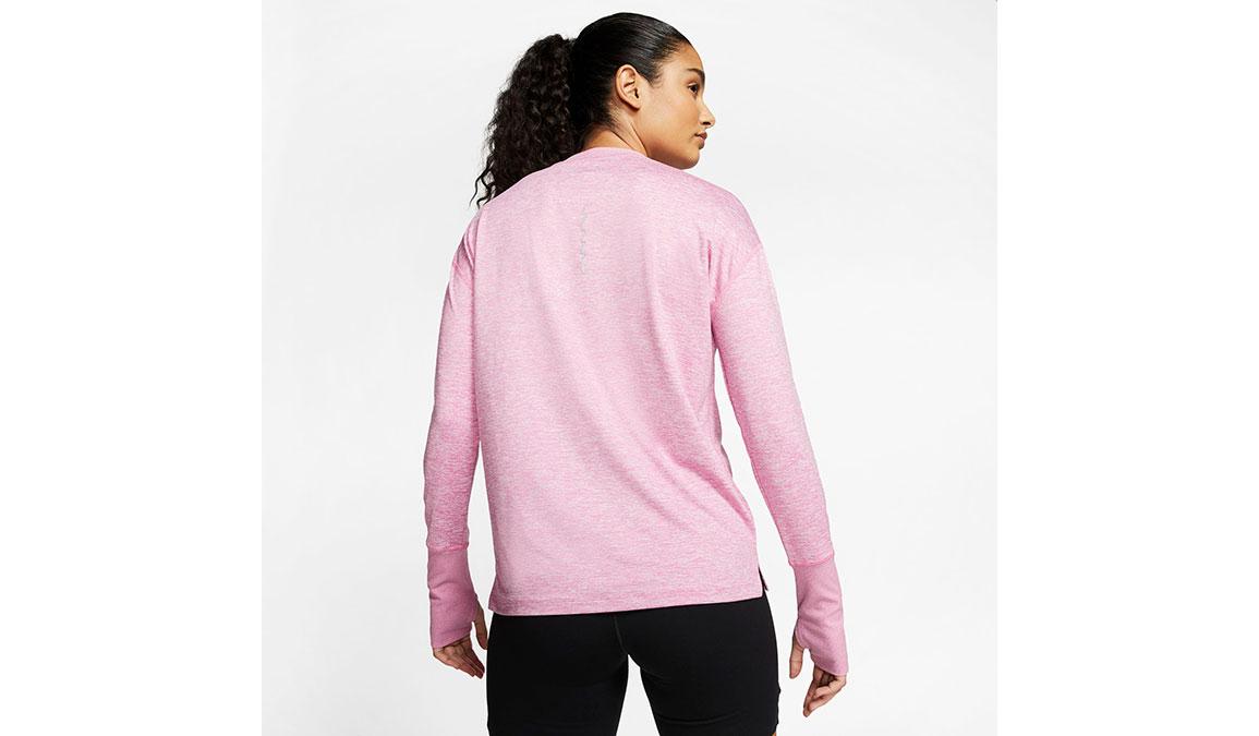 Women's Nike Element Crew Top - Color: Flamingo/Reflective Silver Size: M, Flamingo/Reflective Silver, large, image 2