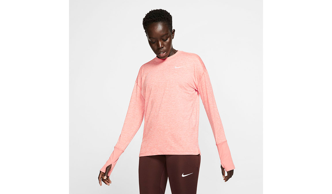 Women's Nike Element Crew Top  - Color: Pink Quartz/Reflective Silver Size: S, Pink Quartz/Reflective Silver, large, image 1
