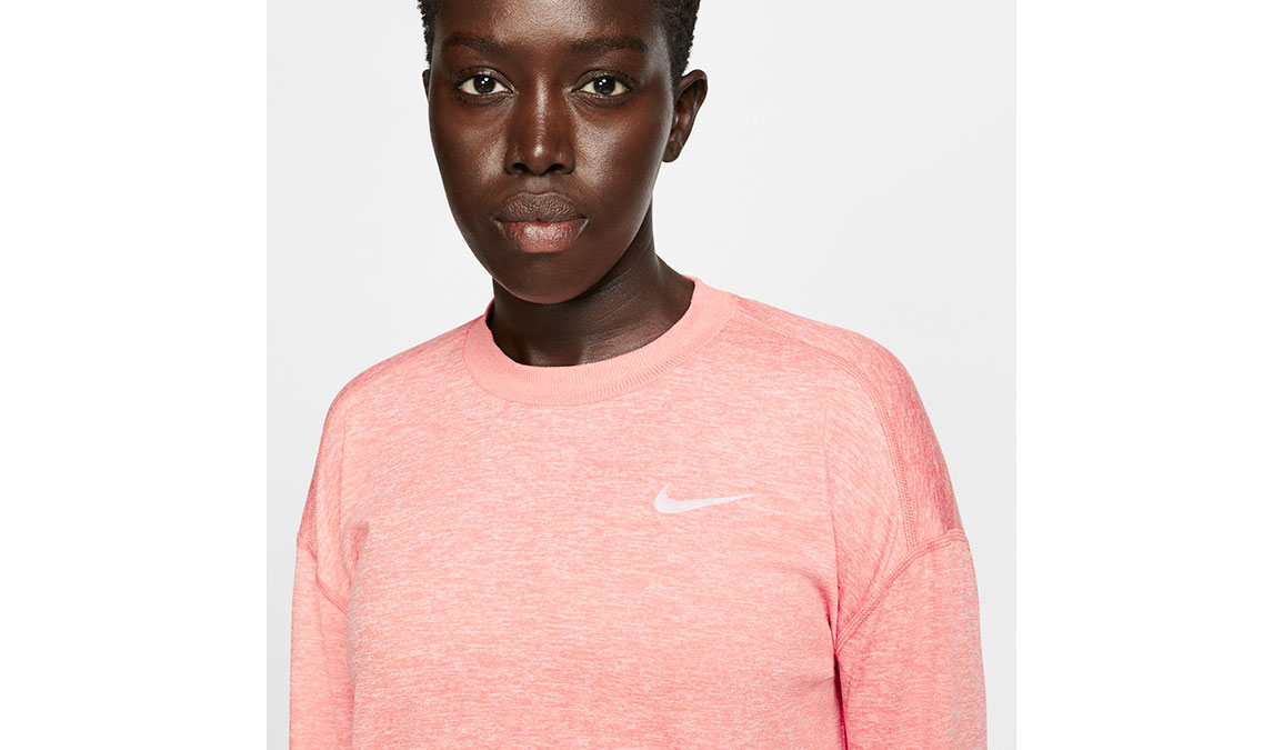 Women's Nike Element Crew Top  - Color: Pink Quartz/Reflective Silver Size: S, Pink Quartz/Reflective Silver, large, image 4