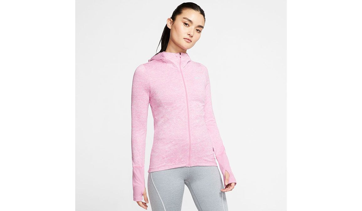 Women's Nike Element Full-Zip Hoodie - Color: Flamingo/Reflective Silver Size: XS, Flamingo/Reflective Silver, large, image 1