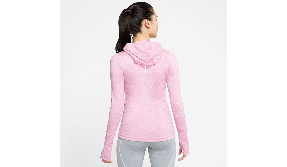 Women's Nike Element Full-Zip Hoodie - Color: Flamingo/Reflective Silver Size: XS, Flamingo/Reflective Silver, large, image 2