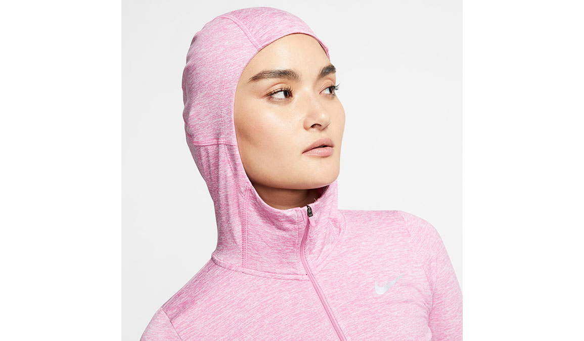 Women's Nike Element Full-Zip Hoodie - Color: Flamingo/Reflective Silver Size: XS, Flamingo/Reflective Silver, large, image 3