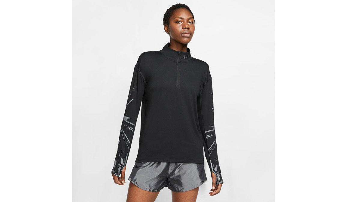 Women's Nike Element Half-Zip Top - Color: Black/Reflective Silver Size: XS, Black/Reflective Silver, large, image 1