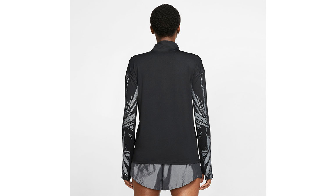 Women's Nike Element Half-Zip Top - Color: Black/Reflective Silver Size: XS, Black/Reflective Silver, large, image 2