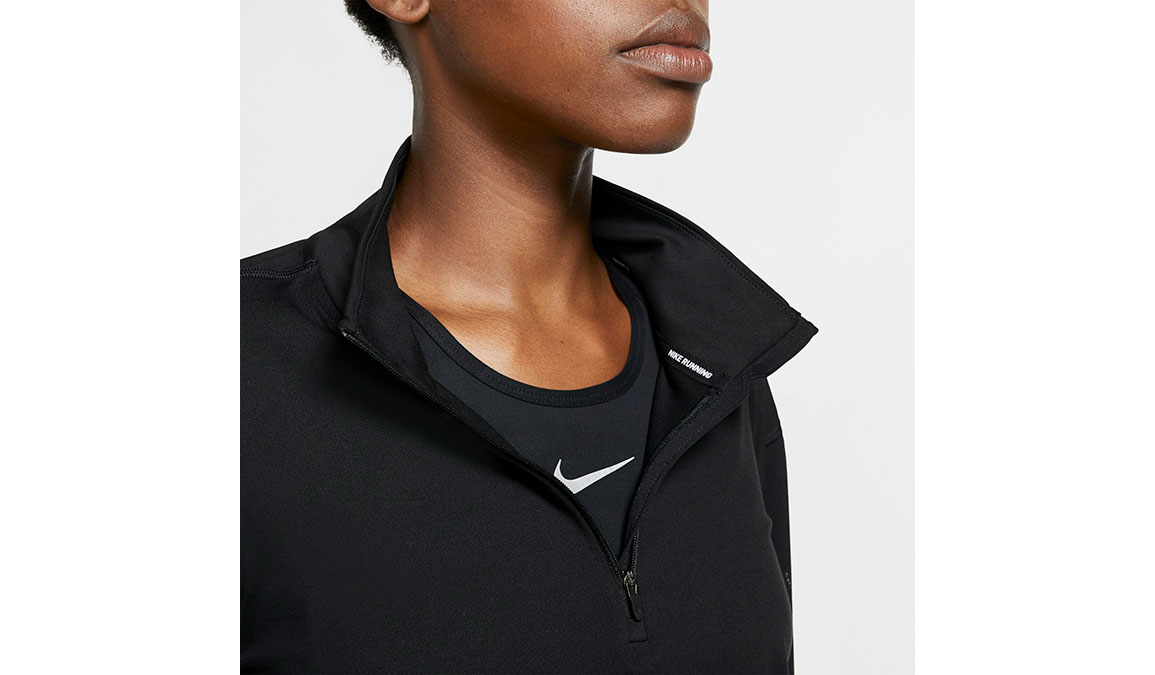 Women's Nike Element Half-Zip Top - Color: Black/Reflective Silver Size: XS, Black/Reflective Silver, large, image 4