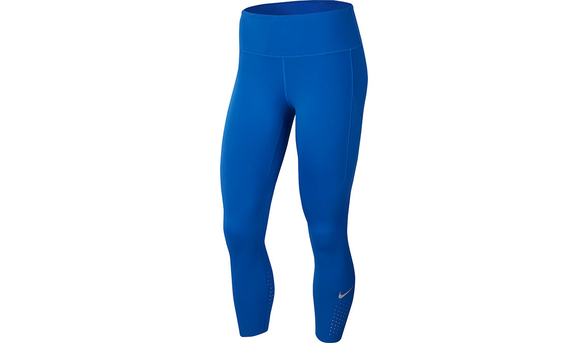 Women's Nike Epic Lux Crop Tights - Color: Game Royal/Reflective Silver Size: XS, Game Royal/Reflective Silver, large, image 1
