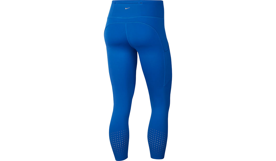 Women's Nike Epic Lux Crop Tights - Color: Game Royal/Reflective Silver Size: XS, Game Royal/Reflective Silver, large, image 2