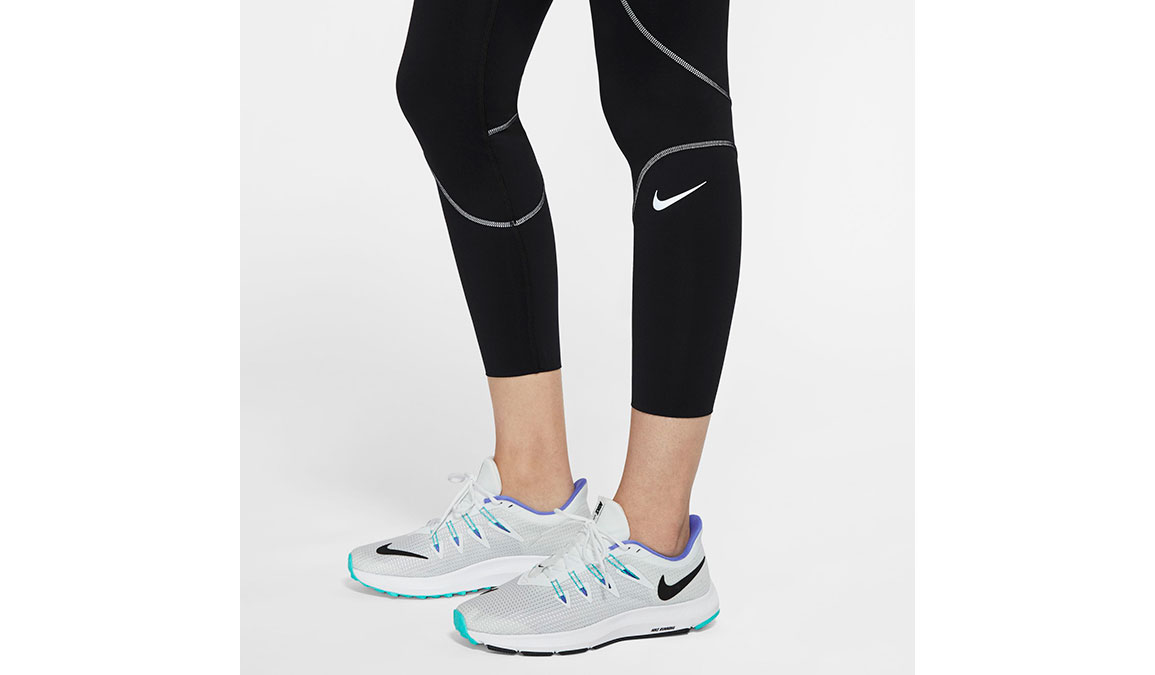 Women's Nike Epic Lux Runway Reflective Tights - Color: Black/Reflective Silver Size: XS, Black/Reflective Silver, large, image 3