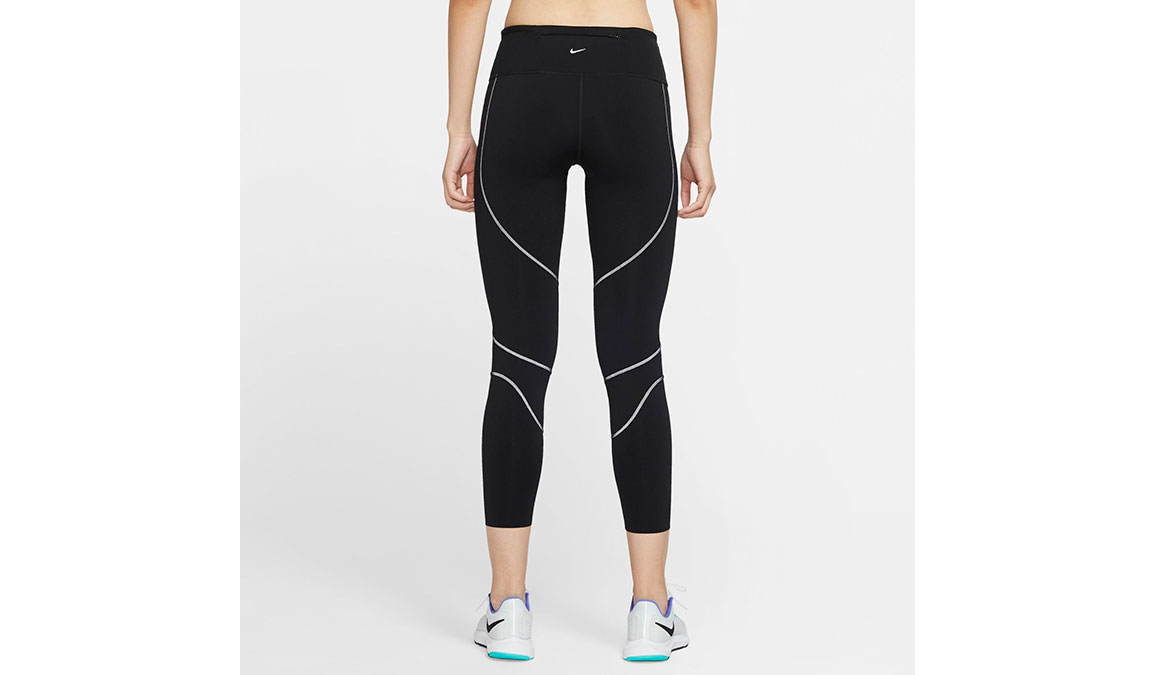 Women's Nike Epic Lux Runway Reflective Tights - Color: Black/Reflective Silver Size: XS, Black/Reflective Silver, large, image 4