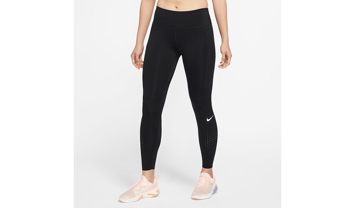 Women's Nike Epic Lux Tights - Color: Black/Reflective Size: XS, Black/Reflective, large, image 1