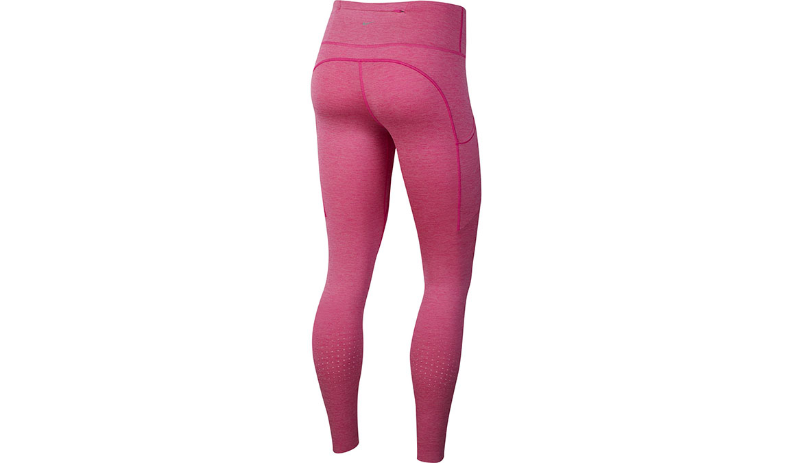 Women's Nike Epic Lux Tights - Color: Fire Pink/Magic Flamingo/Reflective Silver Size: XS, Fire Pink/Magic Flamingo/Reflective Silver, large, image 2