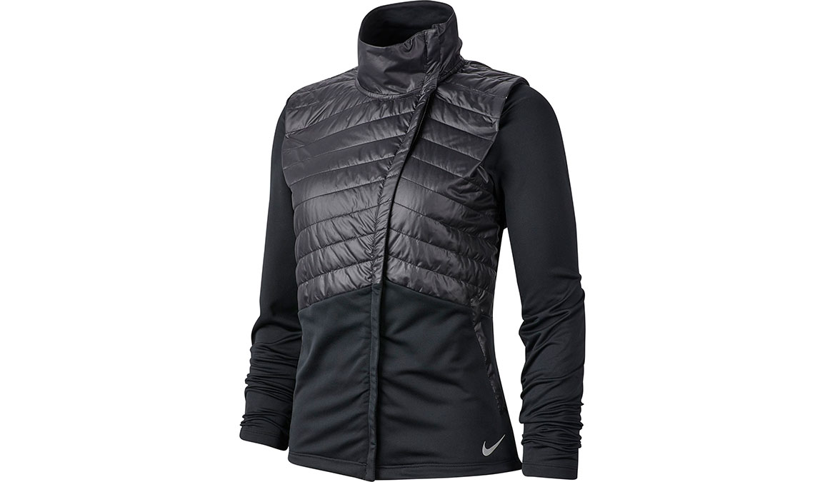Women's Nike Essential Jacket - Color: Black/Reflective Silver Size: XS, Black/Reflective Silver, large, image 1