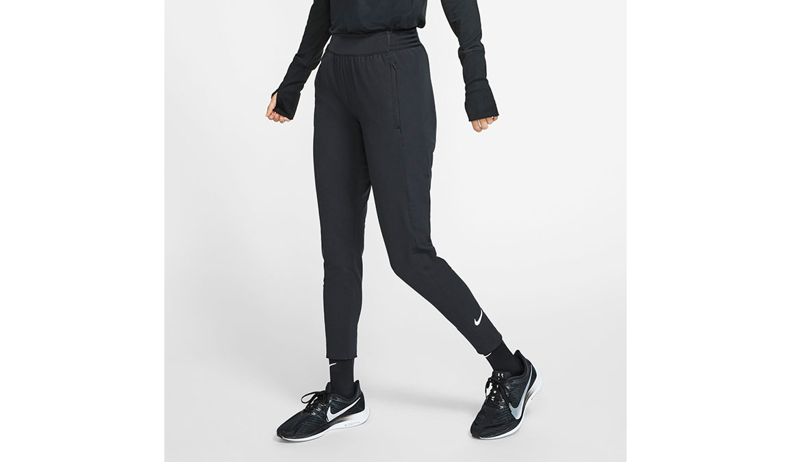 Women's Nike Essential Pants - Color: Black/Reflective Silver Size: M, Black/Reflective Silver, large, image 1