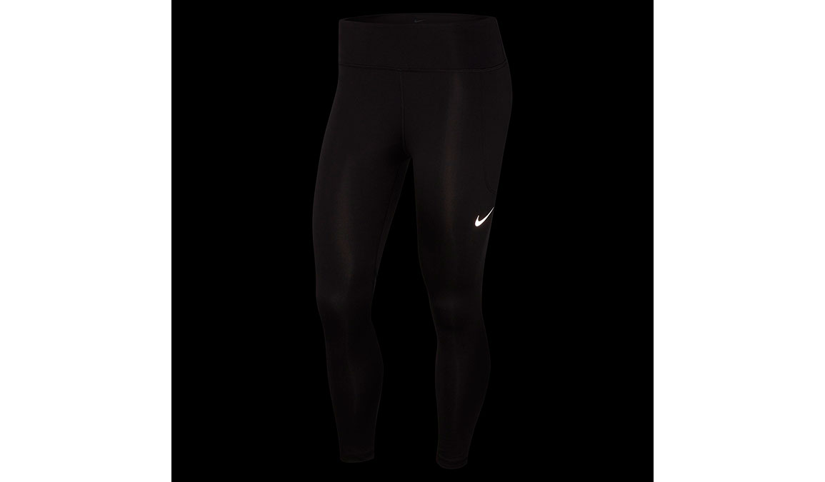 Women's Nike Fast 7/8 Running Crops - Color: Black/Reflective Silver Size: XS, Black/Reflective Silver, large, image 2