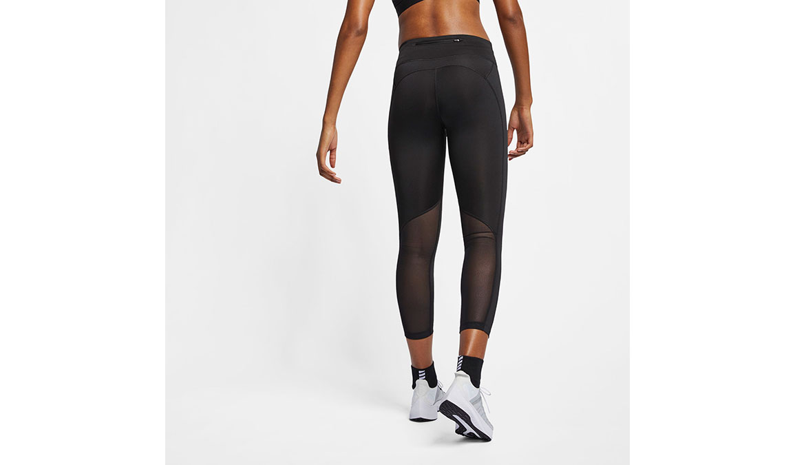 Women's Nike Fast 7/8 Running Crops - Color: Black/Reflective Silver Size: XS, Black/Reflective Silver, large, image 3