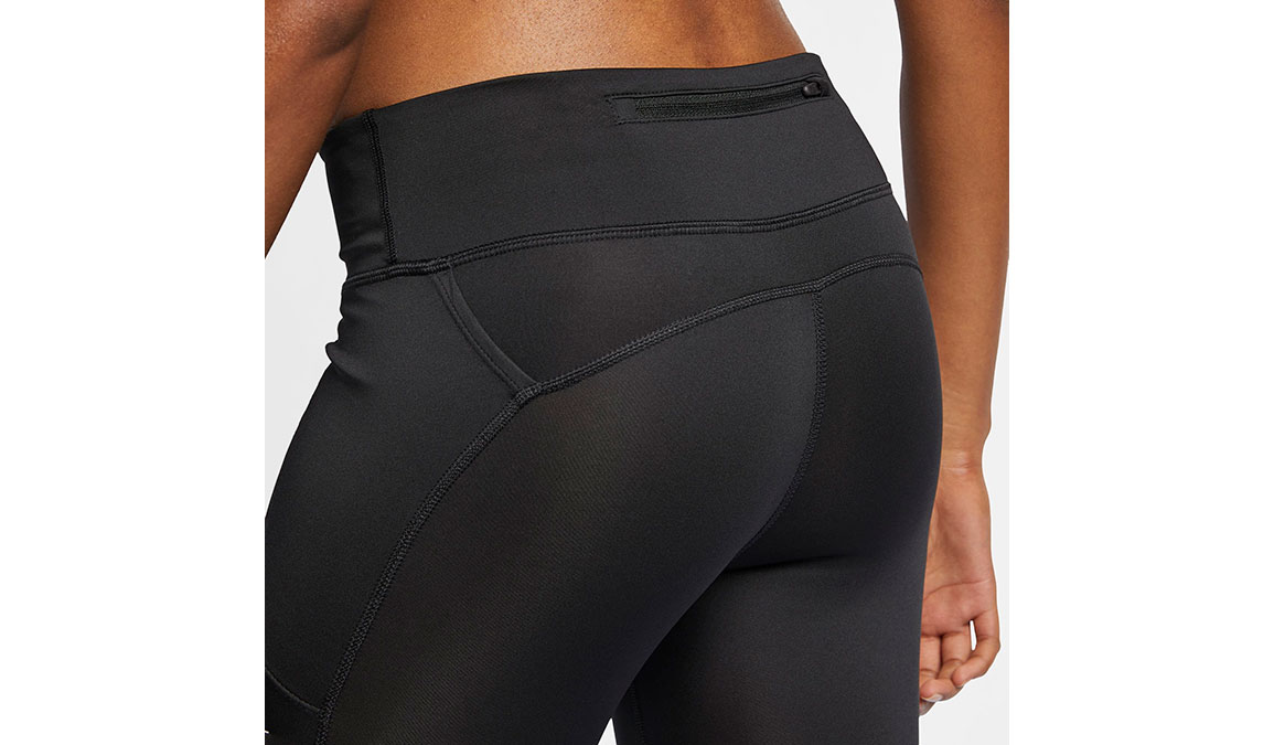 Women's Nike Fast 7/8 Running Crops - Color: Black/Reflective Silver Size: XS, Black/Reflective Silver, large, image 4
