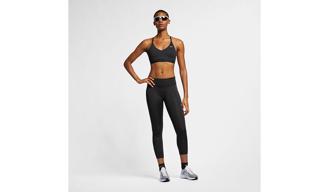 Women's Nike Fast 7/8 Running Crops - Color: Black/Reflective Silver Size: XS, Black/Reflective Silver, large, image 7