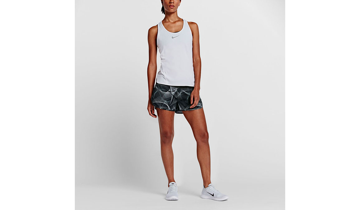 Women's Nike Flex 3 Inch Running Short - Color: Black/Cool Grey - Size: L, Black/Cool Grey, large, image 2