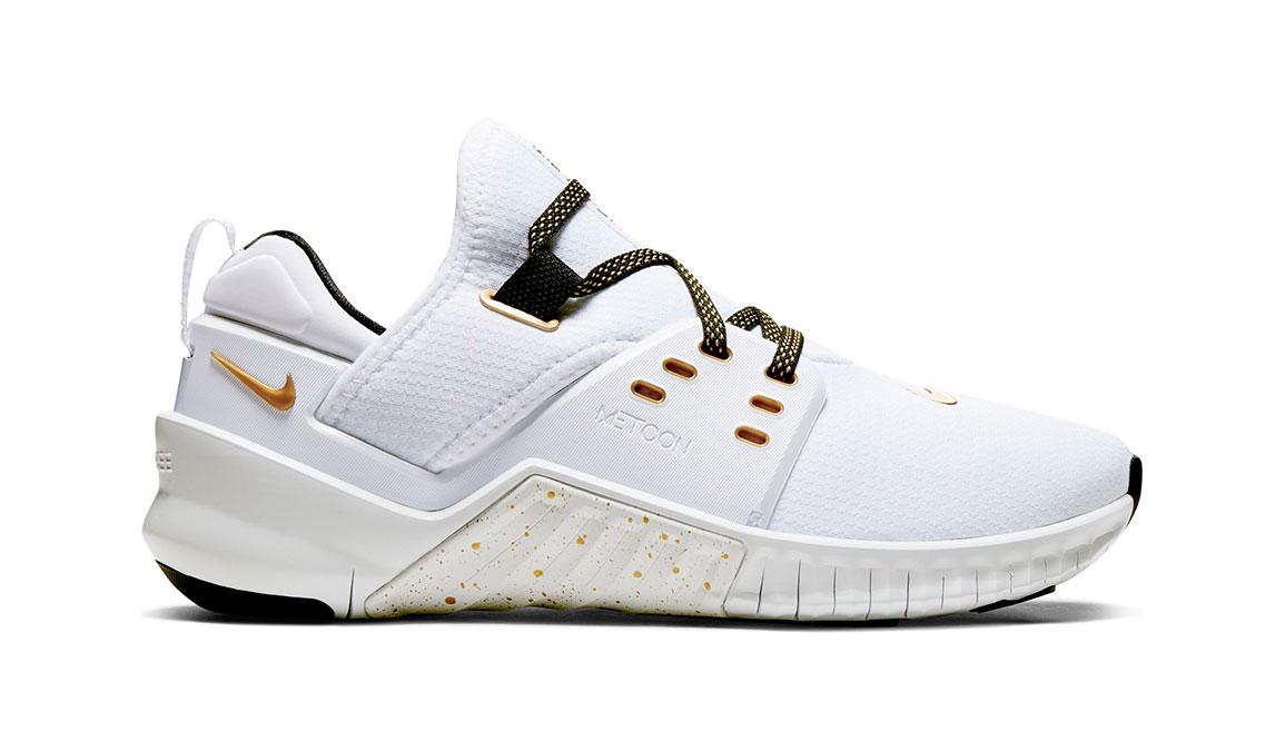 Women's Nike Free X Metcon 2 Training Shoes - Color: White/Metallic Gold (Regular Width) - Size: 6, White/Metallic Gold, large, image 1