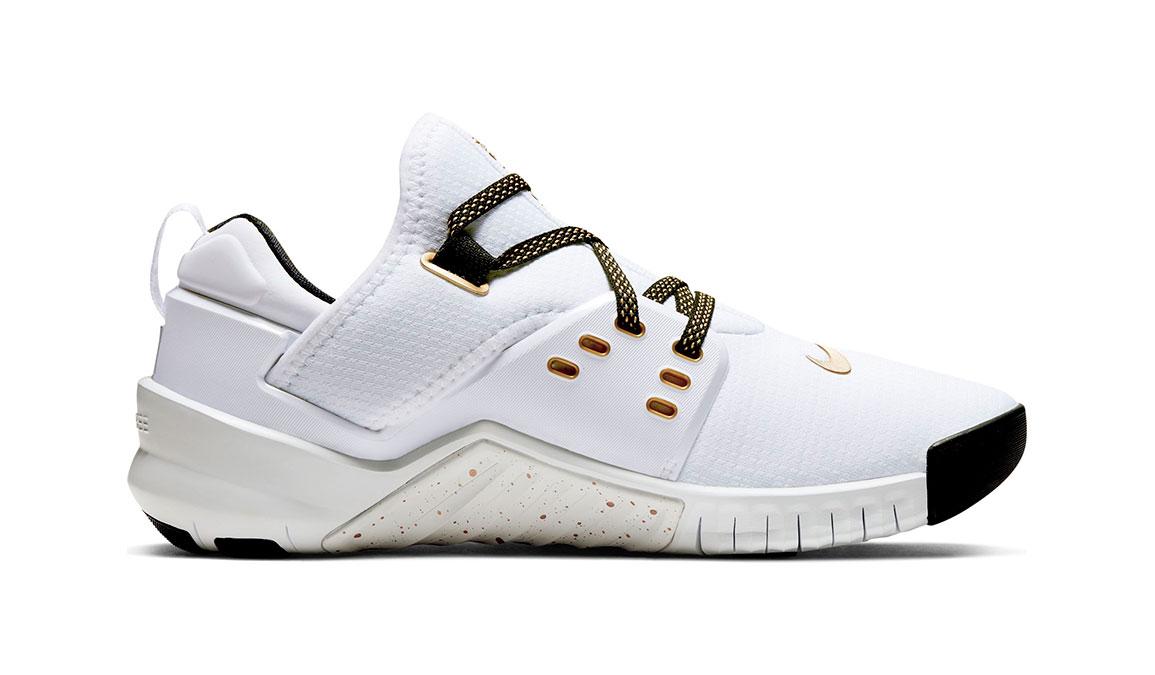 Women's Nike Free X Metcon 2 Training Shoes - Color: White/Metallic Gold (Regular Width) - Size: 6, White/Metallic Gold, large, image 2